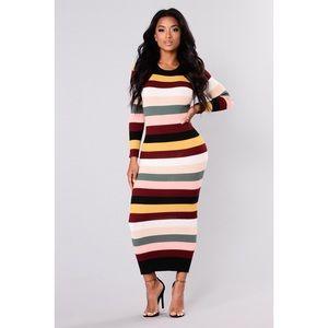 Fashion Nova Pop and Prime Multi color dress